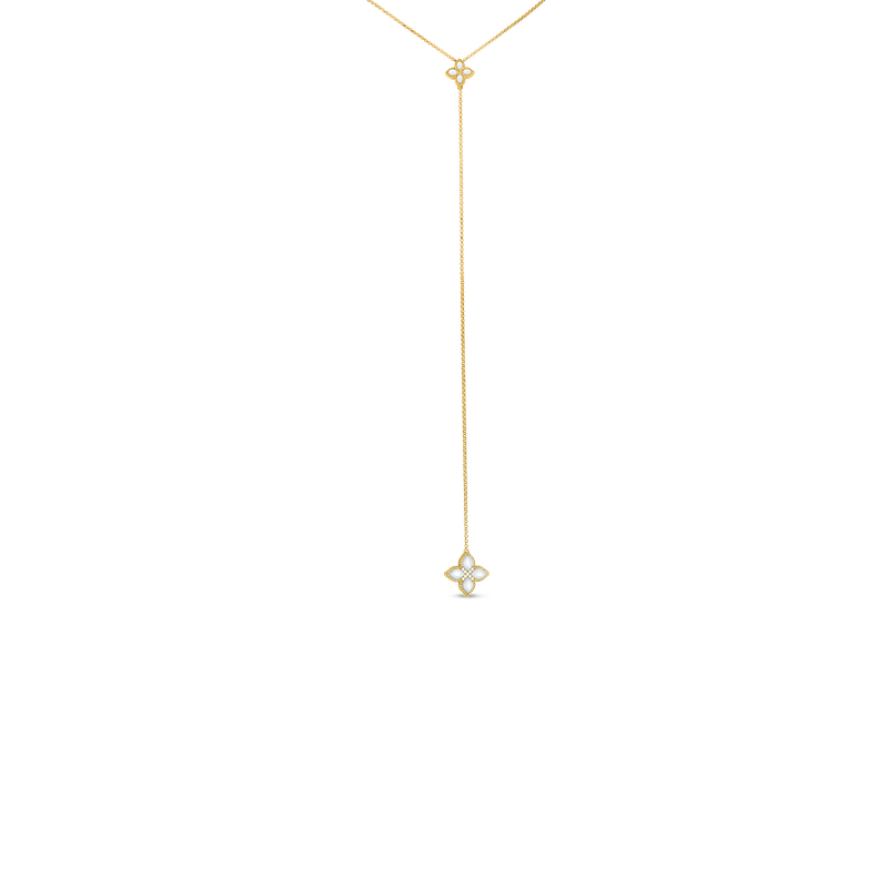 Roberto Coin 18Kt Diamond & Mother-Of-Pearl Lariat Necklace