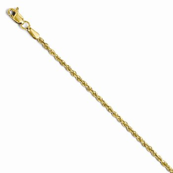 Leslie's 14K 1.75mm Diamond Cut Rope Chain