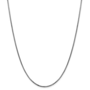 14k WG 1.75mm Semi-Solid Round Box Chain