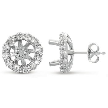 Halo Diamond Earring for 3ct total