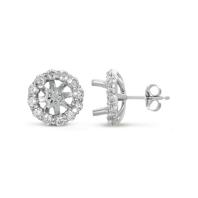 S. Kashi  & Sons Halo Diamond Earring for 3ct total