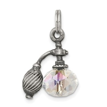 Sterling Silver Antiqued Perfume Bottle Charm