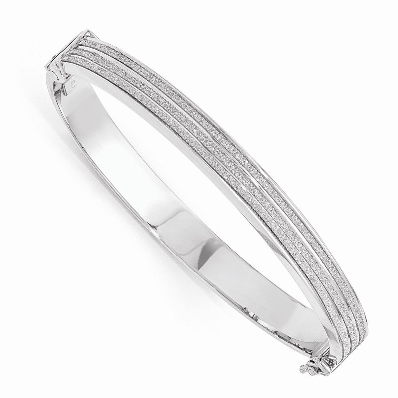 Leslie's Leslie's Sterling Silver Glimmer Infused Hinged Bangle