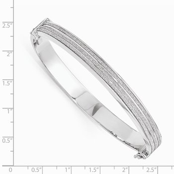 Leslie's Sterling Silver Glimmer Infused Hinged Bangle