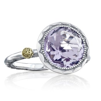 Crescent Bezel Ring featuring Rose Amethyst