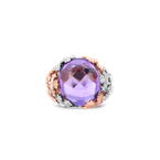 Roberto Coin Cabochon Ring With Amethyst And Diamonds