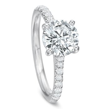 18K White gold Semi Mount for 0.50ct-1.50 ct center