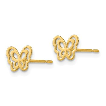 14k Madi K Children's Butterfly Post Earrings