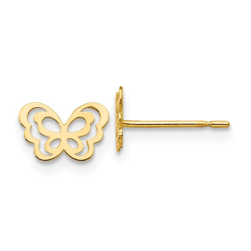 Quality Gold 14k Madi K Children's Butterfly Post Earrings