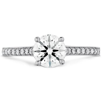 0.65 ctw. Illustrious Engagement Ring-Diamond Intensive Band