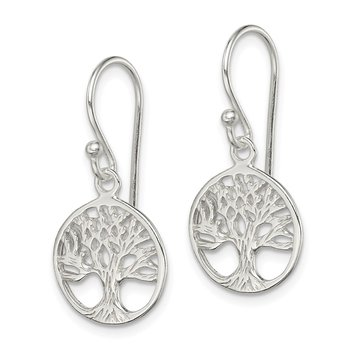 Sterling Silver Shepherd Hook Earrings