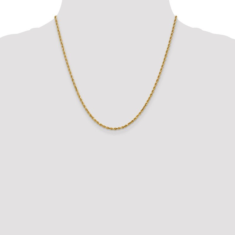 Leslie's Leslie's 14K 2.5mm Diamond-Cut Lightweight Rope Chain