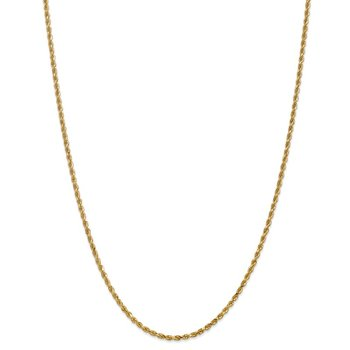 Leslie's 14K 2.5mm Diamond Cut Lightweight Rope Chain