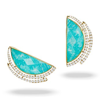Amazon Breeze Diamond Earrings 18KY