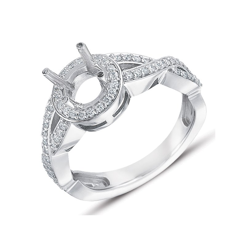 S. Kashi & Sons Bridal White Gold Engagement Ring