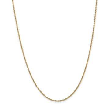 14k 1.8mm Forzantine Cable Chain Anklet