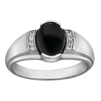 Black Onyx Gents Ring
