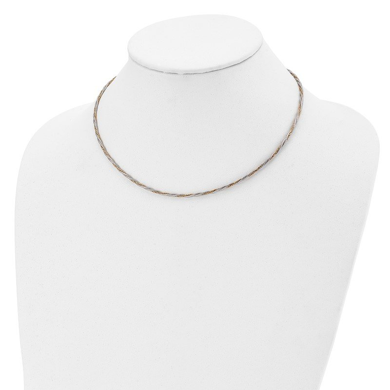 Leslie's Leslie's 14K Two-tone Polished Braided w/2in ext. Necklace