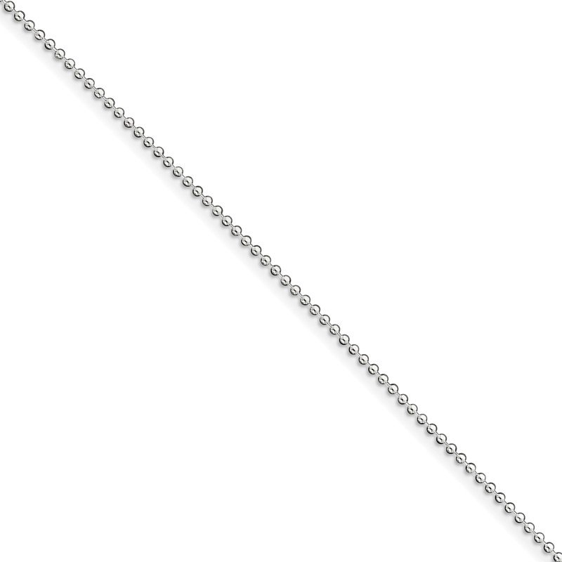 Quality Gold Sterling Silver 1.5mm Beaded Chain Anklet