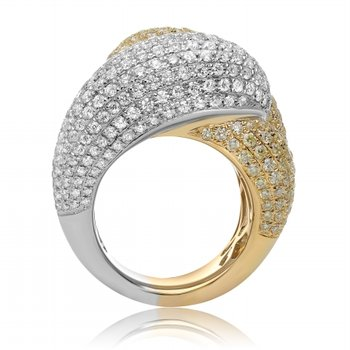 Two-Tone Interlocking Diamond Band
