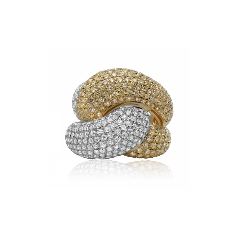 Roman & Jules Two-Tone Interlocking Diamond Band