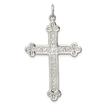 Sterling Silver Budded Cross Pendant