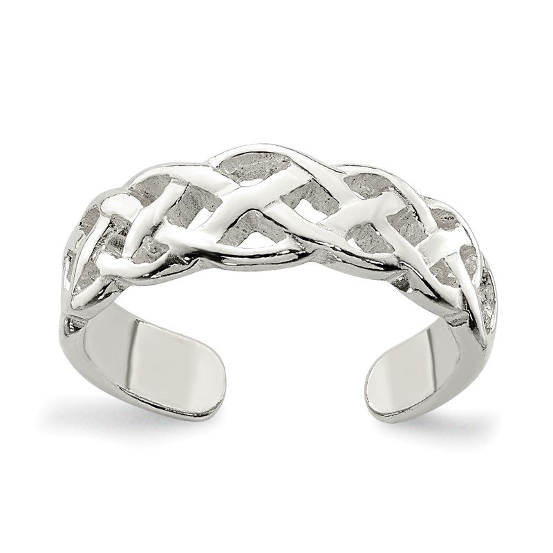 Quality Gold Sterling Silver Celtic Weave Toe Ring