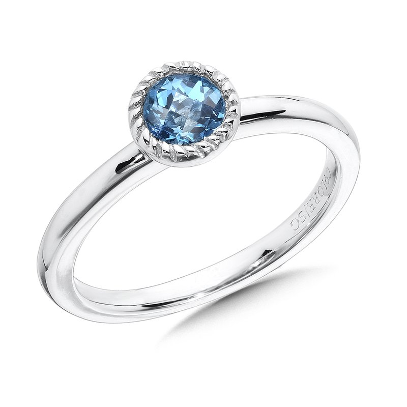 Colore Sg Sterling Silver Blue Topaz Stacking Ring