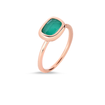 18Kt Gold Ring With Agate