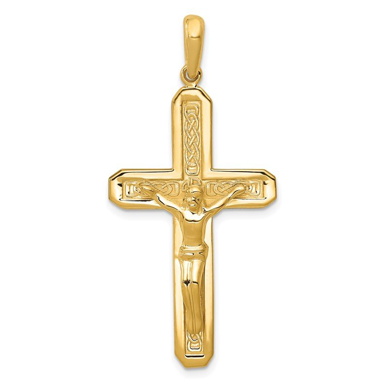 Quality Gold 14k Polished Crucifix Pendant