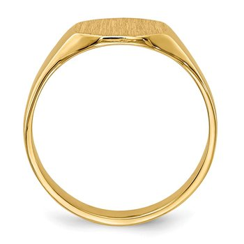 14k Signet Ring 7.5mmx6mm Solid Back
