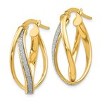 Leslie's Leslie's 14K Glimmer Infused Twisted Hoop Earrings