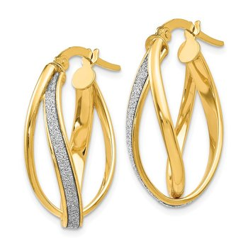 Leslie's 14K Glimmer Infused Twisted Hoop Earrings