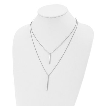 Leslie's Sterling Silver Two Strand w/ 2in ext. Necklace