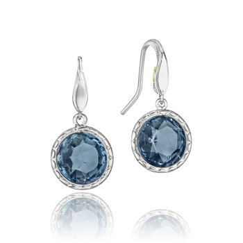 Simply Gem Drop Earrings featuring London Blue Topaz