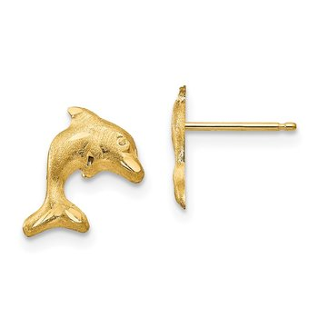 14k Madi K Satin Dolphin Earrings