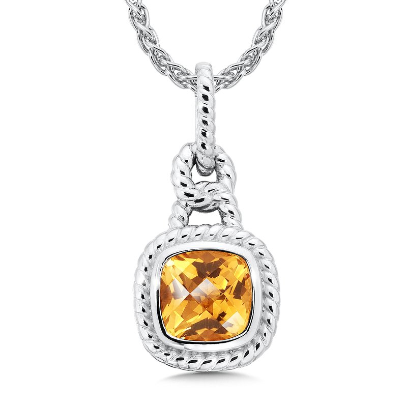 Colore Sg Sterling Silver Citrine Pendant
