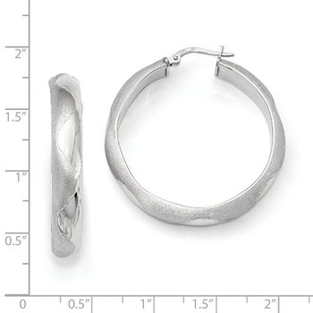 Leslie's SS Rhodium Plated Hoop Earrings