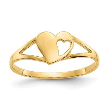 14k Madi K Heart Baby Ring