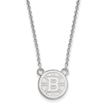 Sterling Silver Boston Bruins NHL Necklace