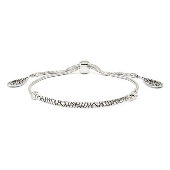 Sterling Silver Filigree Teardrops Adjustable Bracelet