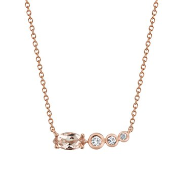 MARS 27261 Pendant Necklace, 0.08 Dia, 0.73 Morganite