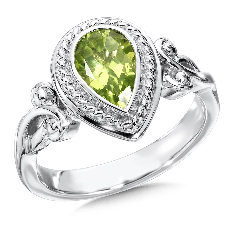 Colore Sg Sterling Silver Peridot  Ring