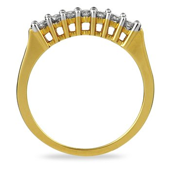 14K YG Diamond Wedding Band Ring