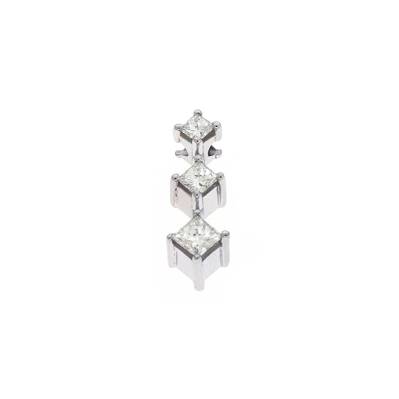Briana Three Stone Diamond Pendant