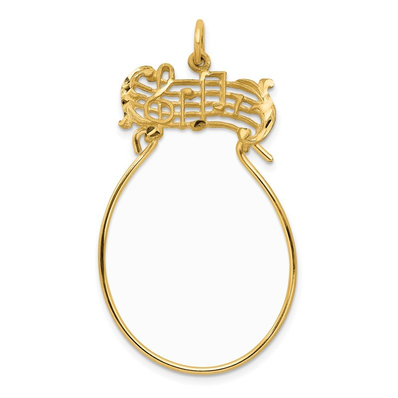 Quality Gold 14k Musical Charm Holder