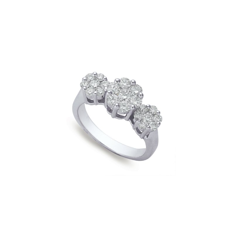S. Kashi  & Sons White Gold Flower Ring
