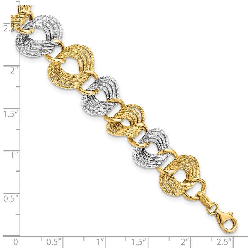 e54bd8f6d26 Leslie's Leslie's 14k Two-Toned Fancy Bracelets. Stock # LF802-7.25