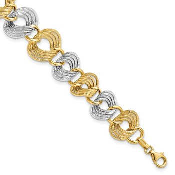 Leslie's 14K Two-Toned Fancy Bracelet