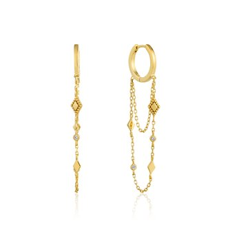BOHEMIA CHAIN DROP MINI HOOPS